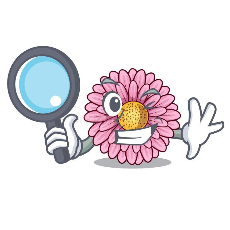 La fleur révélatrice de gerbera colle la tige de mascotte illustration stock