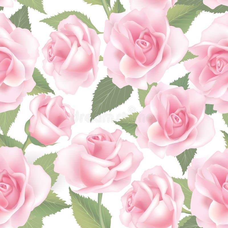 La fleur s'est levée Fond sans joint floral Configuration de fleur illustration stock