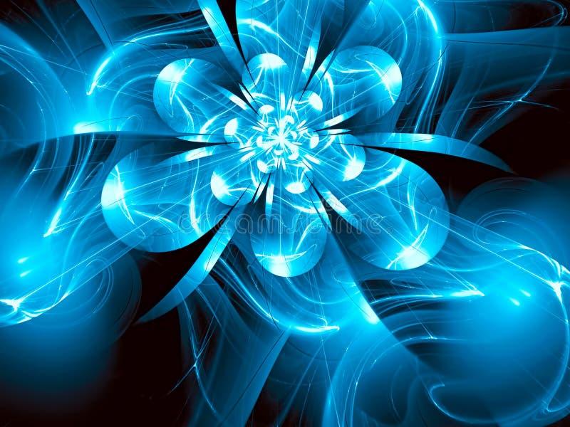 La flor de cristal del fractal - resuma la imagen digital generada ilustración del vector