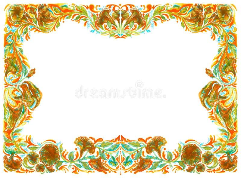 La flor del marco del fondo en flora aplica la naturaleza r del ejemplo del arte ilustración del vector