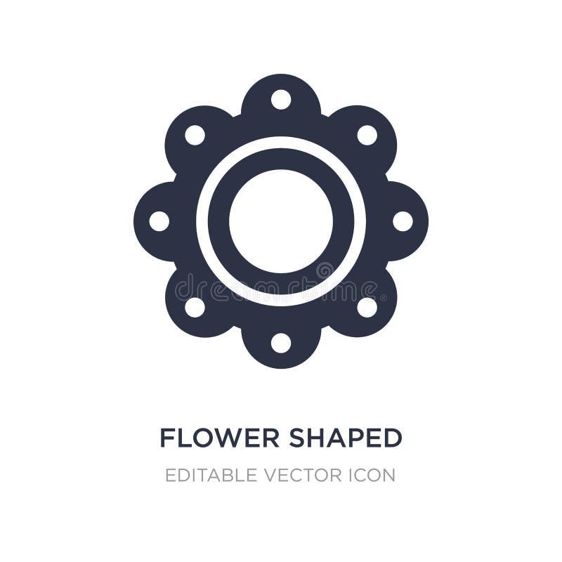 la flor formó el icono de las galletas en el fondo blanco Ejemplo simple del elemento del concepto de la comida stock de ilustración
