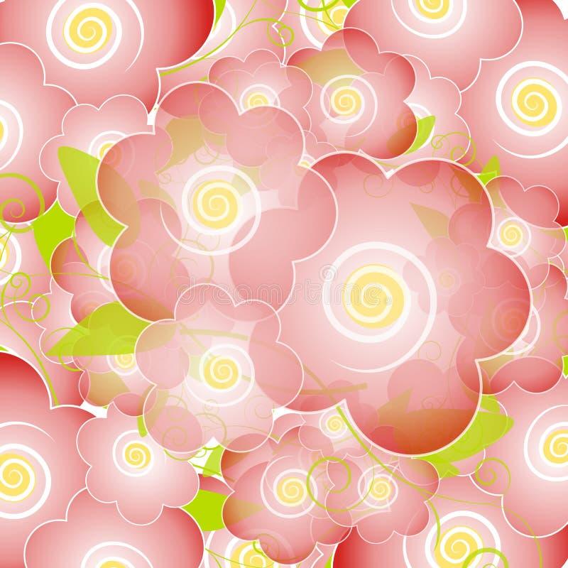 La flor rosa clara florece fondo libre illustration