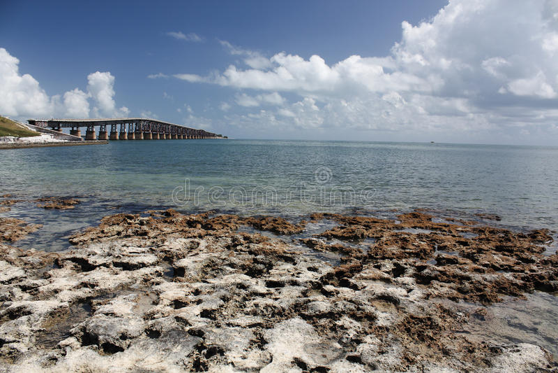 La Florida cierra la playa escénica imagen de archivo libre de regalías