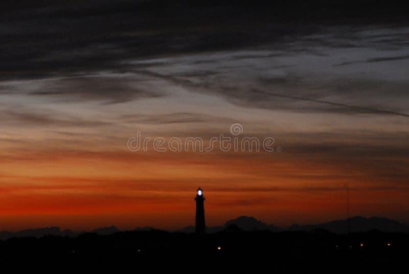 La Florida el St Augustine Lighthouse en la puesta del sol foto de archivo