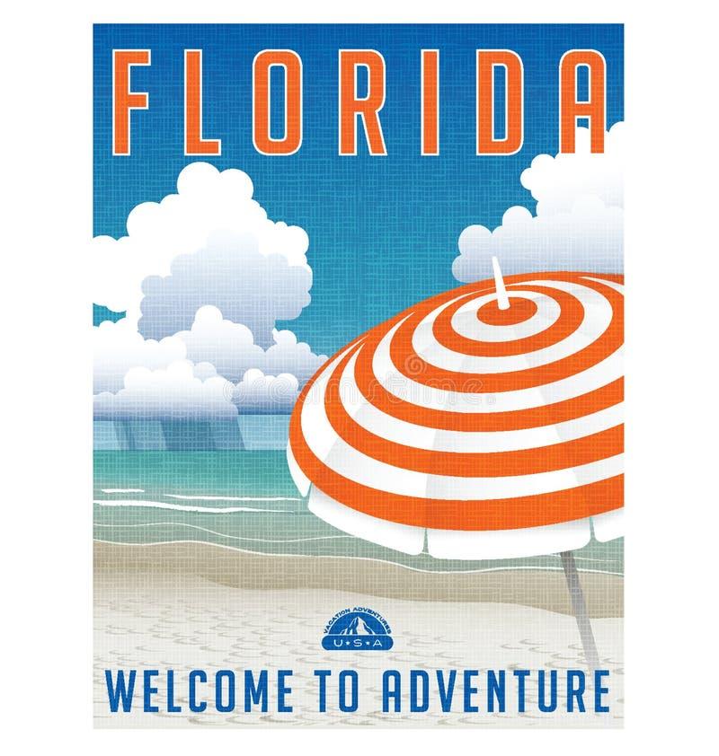 La Florida Estados Unidos viaja cartel ilustración del vector