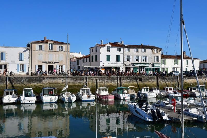 La Flotte, France - 25 septembre 2016 : village pittoresque dans a photographie stock