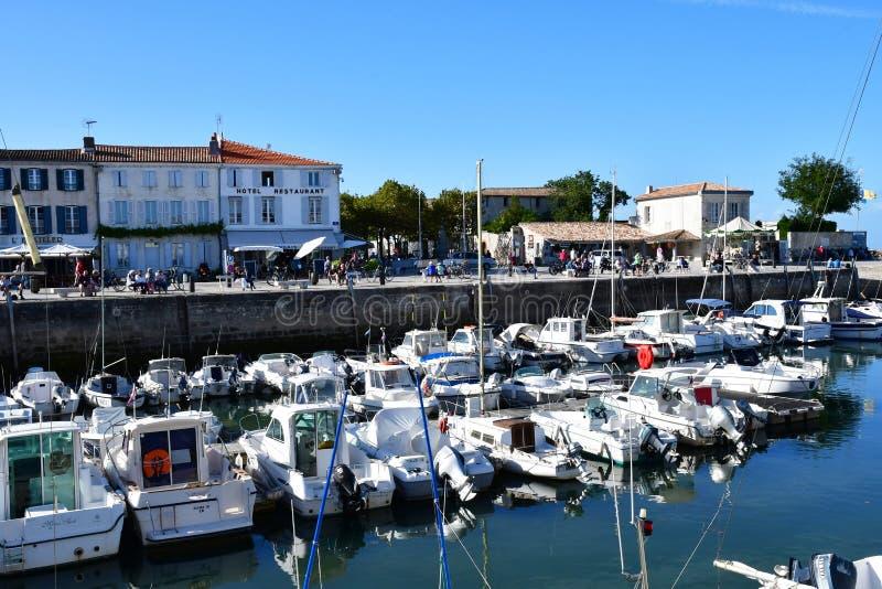 La Flotte, France - 25 septembre 2016 : village pittoresque dans a photo stock