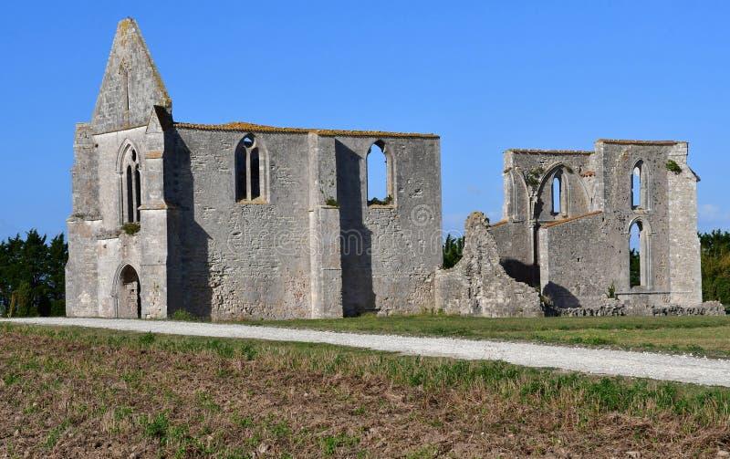La Flotte, Frankrike - september 25 2016: Notre Dame de Re cisterc royaltyfria foton