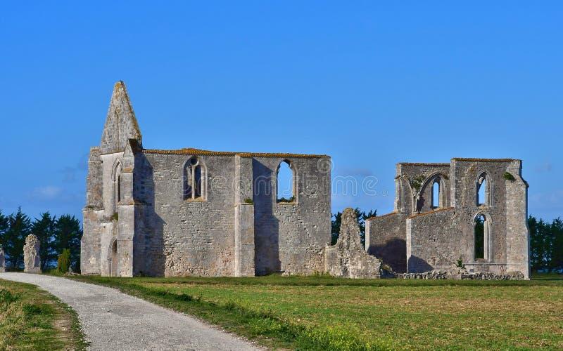 La Flotte, Frankrike - september 25 2016: Notre Dame de Re cisterc arkivbild