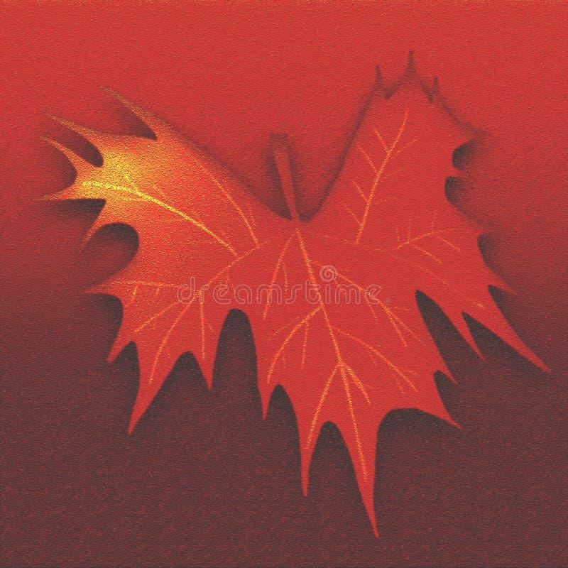 La foglia di autunno ha impresso il fondo strutturato Carta di tema di caduta per i materiali illustrativi Progettazione di sguar illustrazione vettoriale