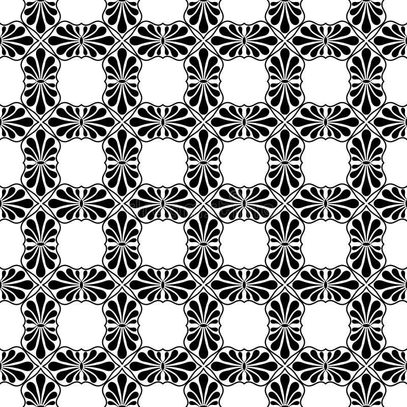 La foglia di palma del fan piastrella la struttura senza cuciture illustrazione di stock