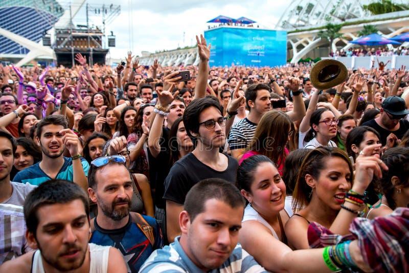 La folla al festival de les Arts immagini stock libere da diritti