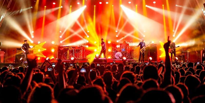La folla in un concerto al festival 2016 di estate di Cruilla fotografia stock libera da diritti