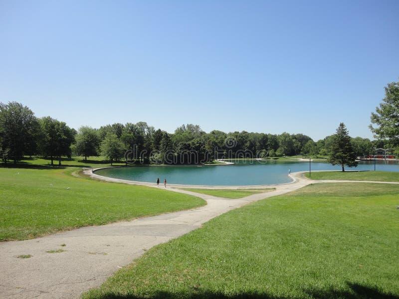 La Fontaine公园,蒙特利尔,加拿大 免版税库存图片
