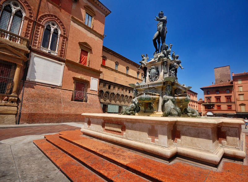 La fontaine de Neptune, Bologna images libres de droits