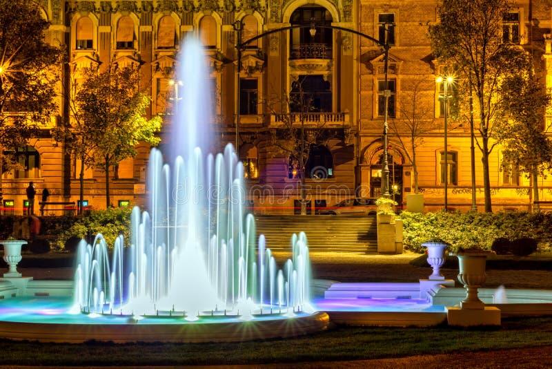 La fontaine devant le pavillon d'art images libres de droits