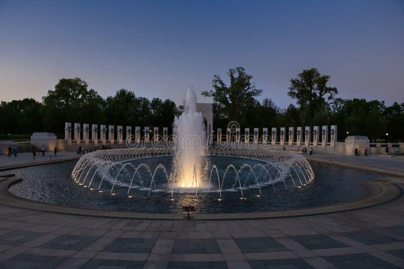La fontana commemorativa della seconda guerra mondiale nazionale fotografie stock