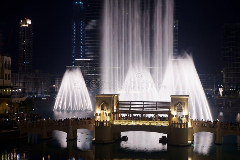 La fontana della Doubai fotografia stock libera da diritti
