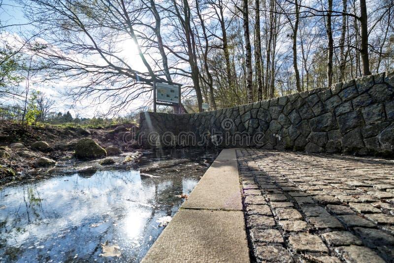 La fonte di Alster in Henstedt-Ulzburg immagine stock