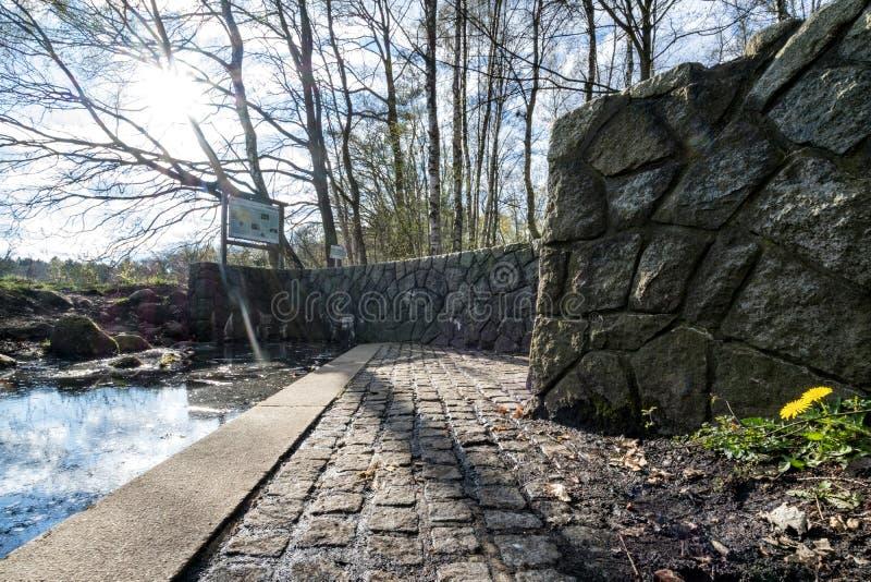 La fonte di Alster in Henstedt-Ulzburg fotografia stock libera da diritti