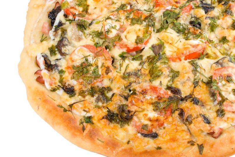 la forêt appétissante répand pizza photos libres de droits