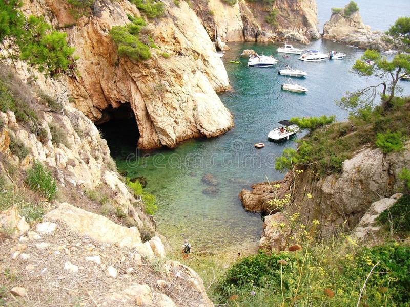 La Foradada Sea Summer Costa Brava stock photography