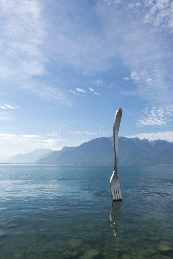 La forcella gigante, Vevey fotografia stock libera da diritti