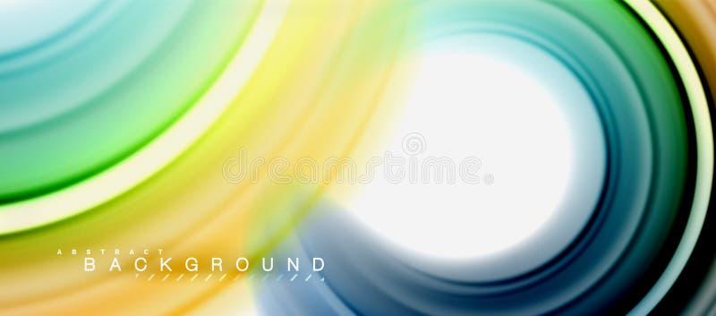 La forma astratta fluida di turbinio dell'arcobaleno, colori liquidi torti progetta, marmo variopinto o fondo ondulato di plastic royalty illustrazione gratis