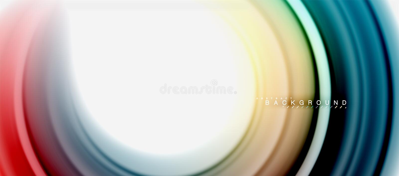 La forma astratta fluida di turbinio dell'arcobaleno, colori liquidi torti progetta, marmo variopinto o fondo ondulato di plastic illustrazione di stock