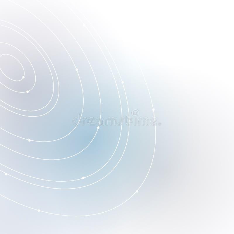La forma del vettore EPS10 del fondo di tecnologia dell'estratto di progettazione di massima del cerchio royalty illustrazione gratis