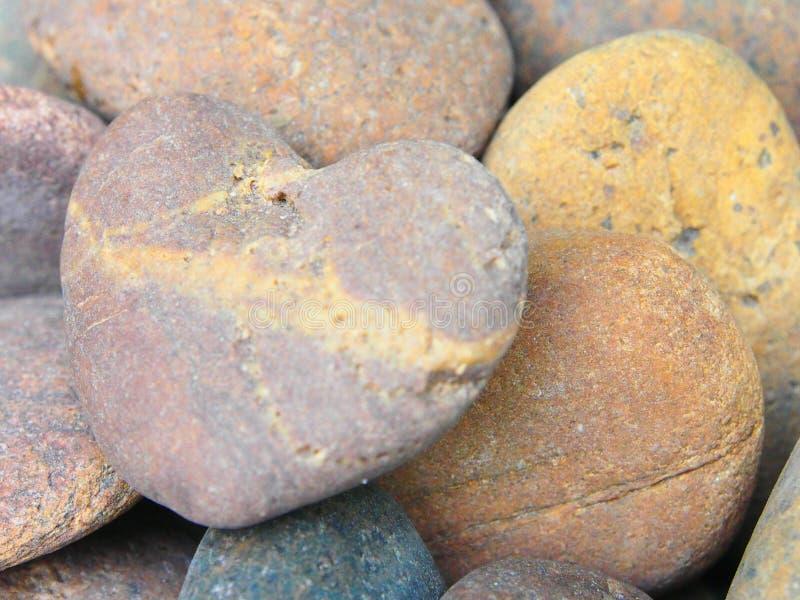 La forma especial de la roca es corazón imagen de archivo libre de regalías