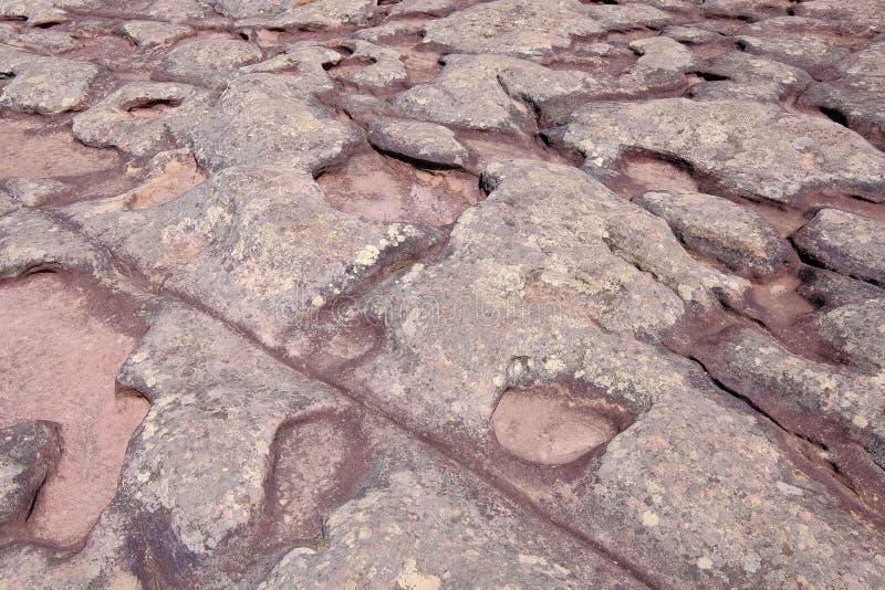 La formación de roca de piedra encima de Morro hace la montaña de Pai Inacio, parque nacional de Chapada Diamantina, Lencois, Bah imagen de archivo libre de regalías