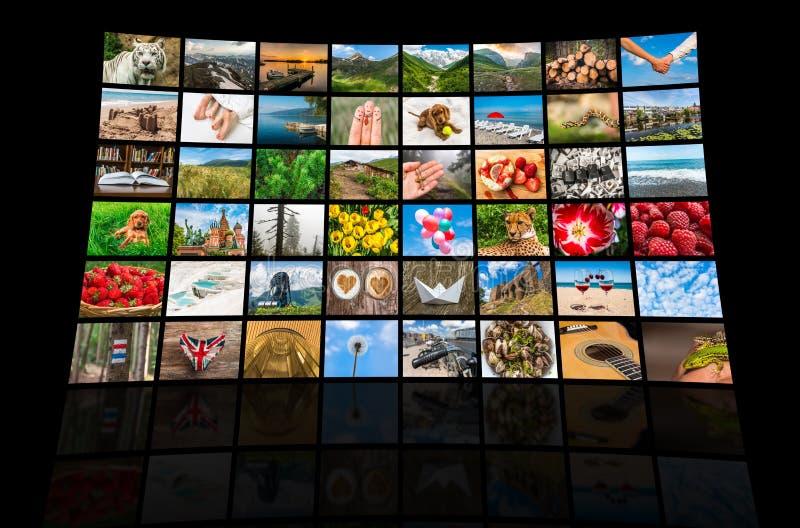 La formation d'écrans de grands multimédia a annoncé le mur visuel photo stock