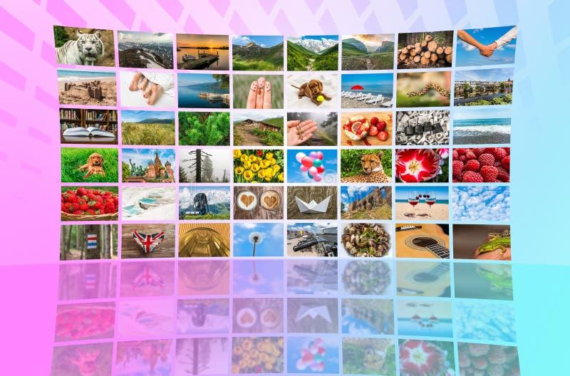 La formation d'écrans de grands multimédia a annoncé le mur visuel photographie stock