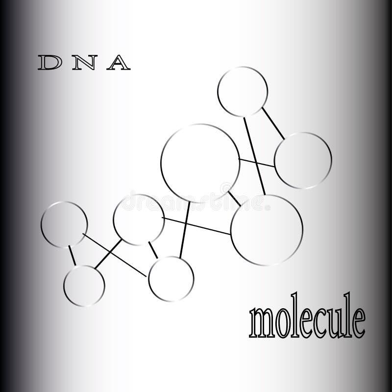La formation des atomes et de l'ADN de composés chimiques de molécules illustration de vecteur