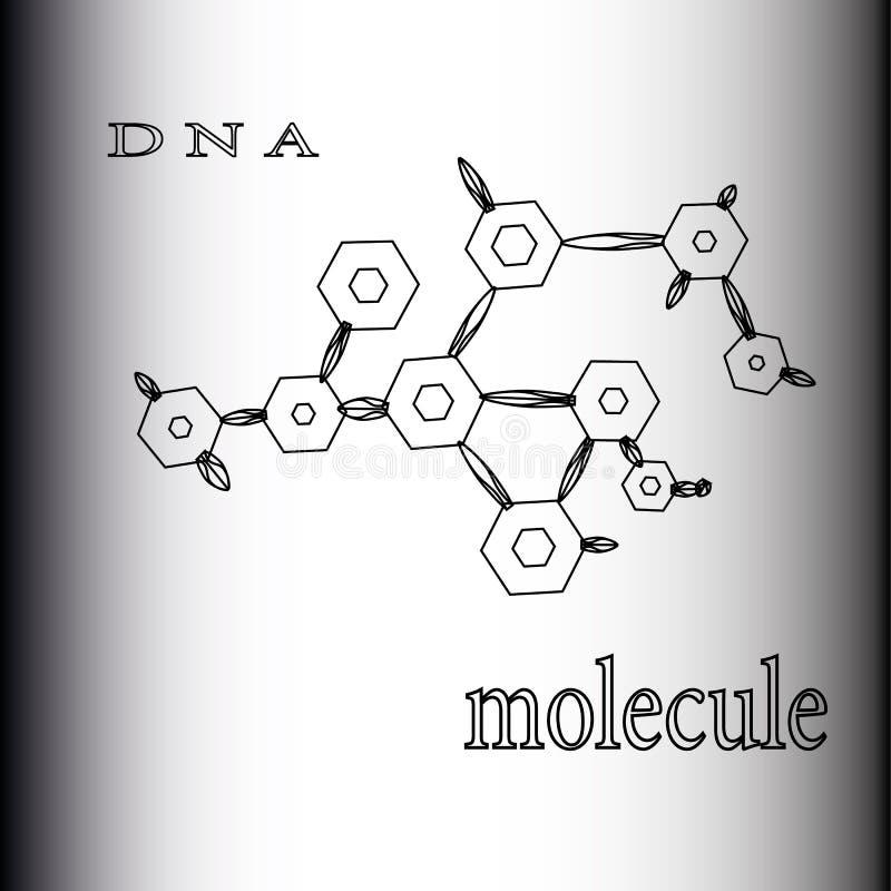 La formation des atomes et de l'ADN de composés chimiques de molécules illustration libre de droits