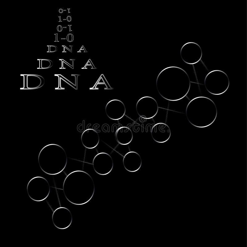 La formation des atomes et de l'ADN de composés chimiques de molécules illustration stock
