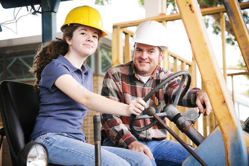 La formation professionnelle dans la construction image libre de droits
