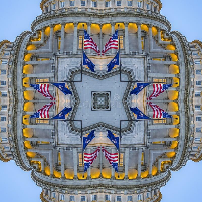 La forme arrondie de place a fait avec le dôme du capital images stock