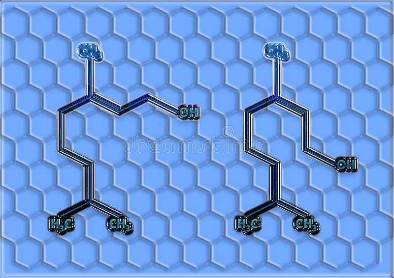 La formula strutturale chimica dello spirito royalty illustrazione gratis