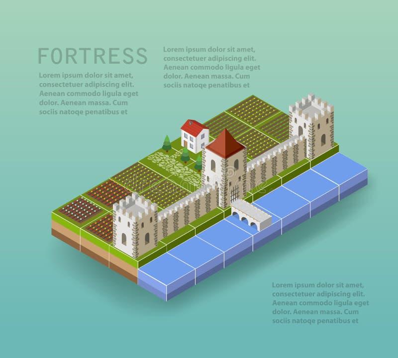 La fortaleza stock de ilustración