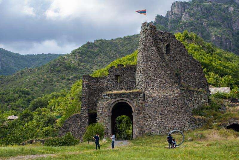 La fortaleza Akhtala Lorri, Armenia fotografía de archivo libre de regalías