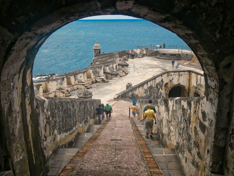La Fortaleza - Castillo Felipe del Morro stockfotografie
