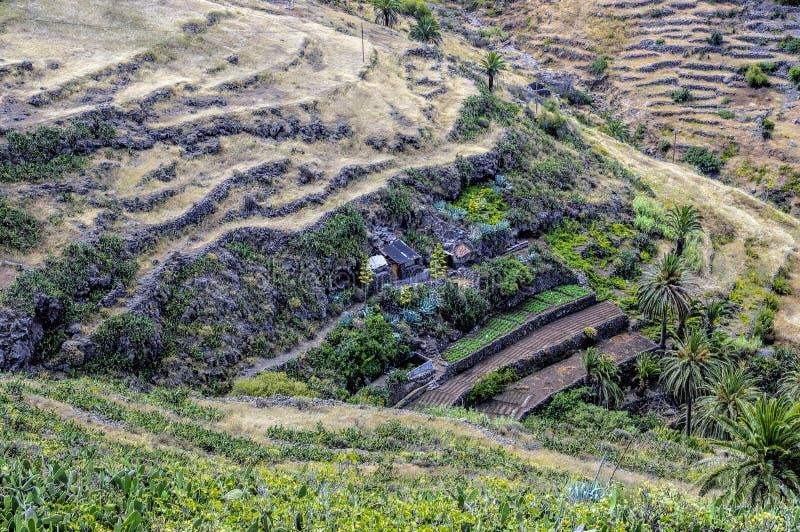 La Fortaleza de Chipude, La Gomera royalty free stock photo