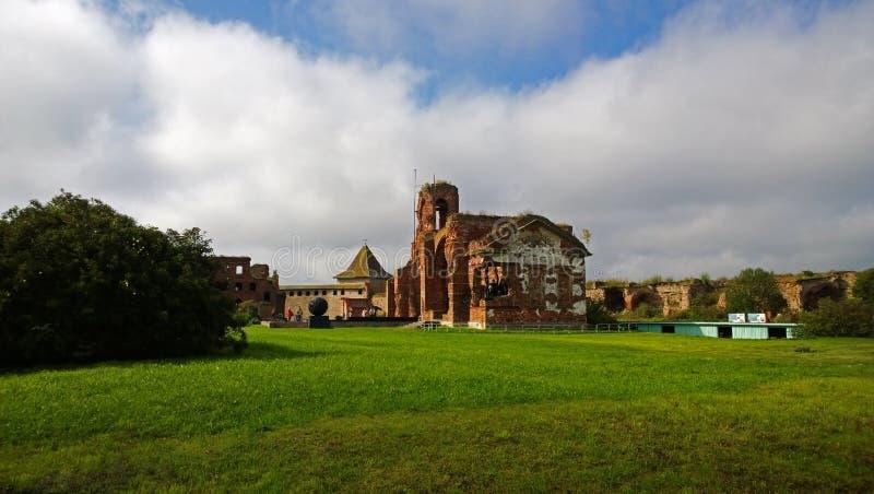La fortaleza de Oreshek en la isla en Rusia imagen de archivo libre de regalías