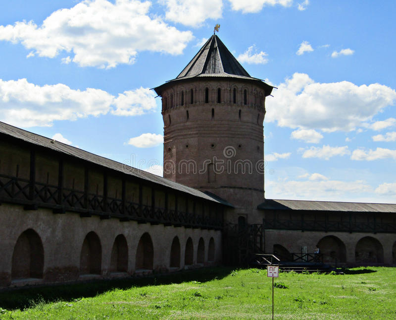 La fortaleza de Suzdal foto de archivo