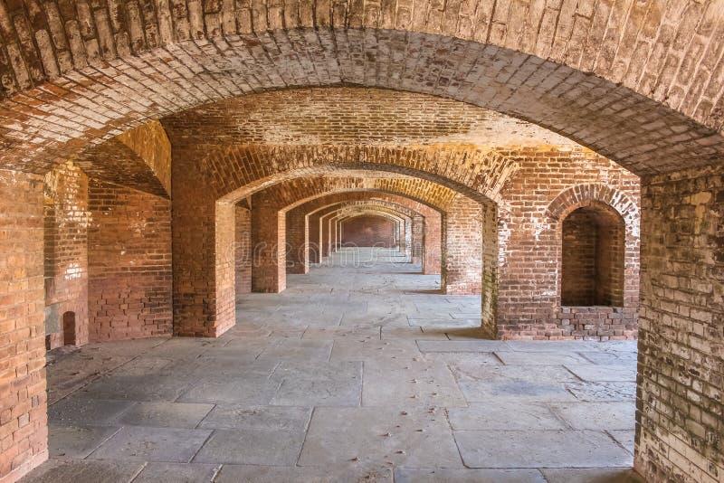 La fortaleza del fuerte Jefferson foto de archivo libre de regalías