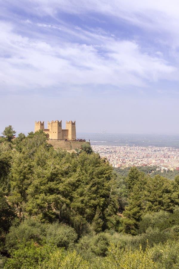 La fortaleza nombró a Kasbah Ras el-Ain, en Asserdoun, Beni Mellal imagenes de archivo