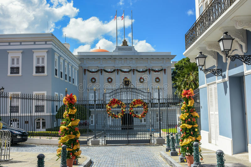 La Fortaleza. Old San Juan Puerto Rico Governor House stock images
