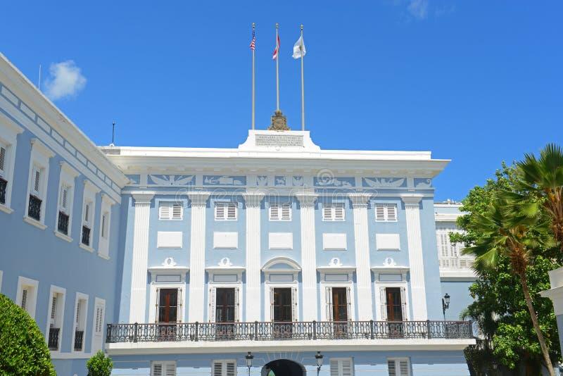 La Fortaleza in Oud San Juan, Puerto Rico stock foto